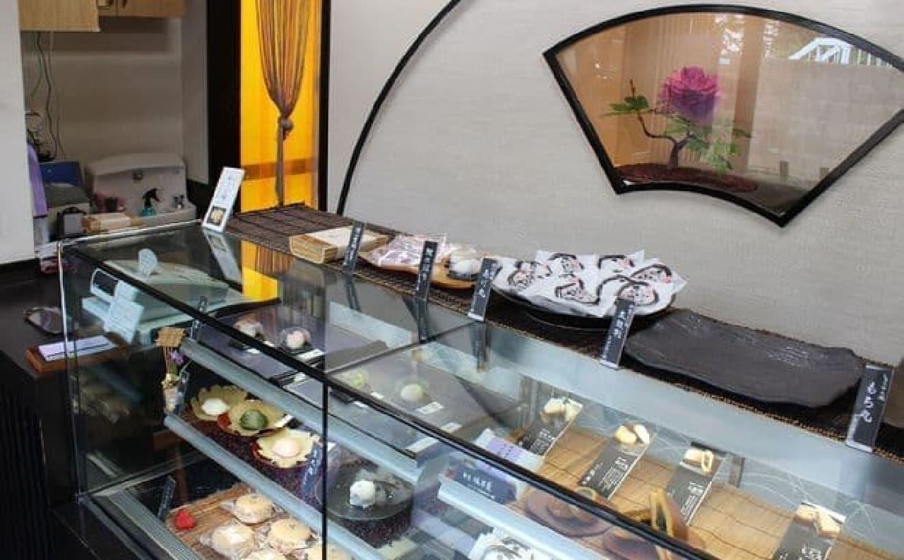中目黒にある和菓子屋「雅庵」店内の様子