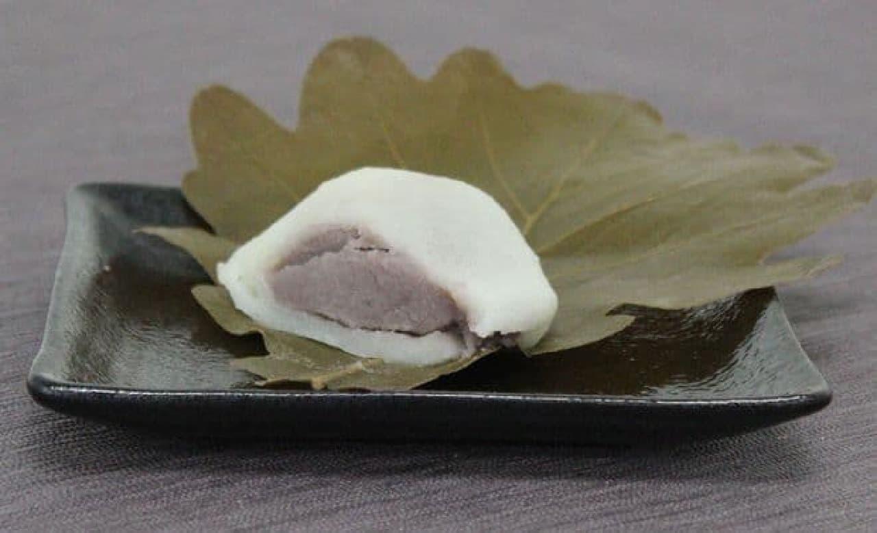 中目黒にある和菓子屋「雅庵」の柏餅