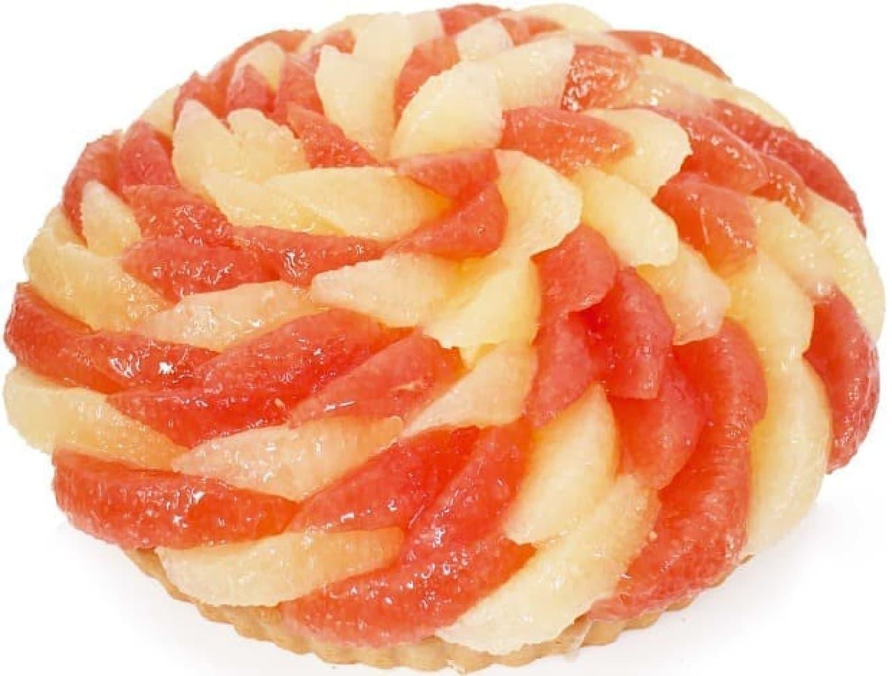 カフェコムサ「『あまくさンソルト』とグレープフルーツのケーキ」