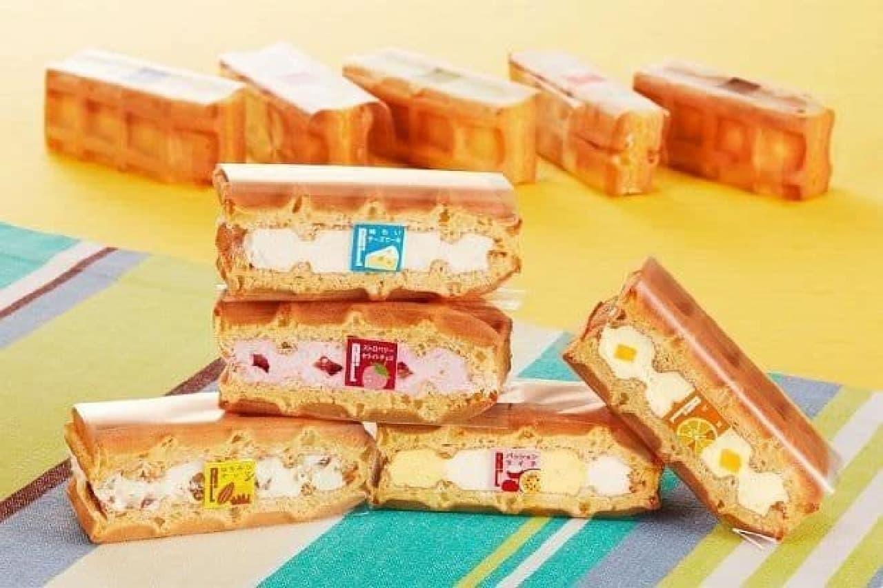 エール・エル6月限定のワッフルケーキ