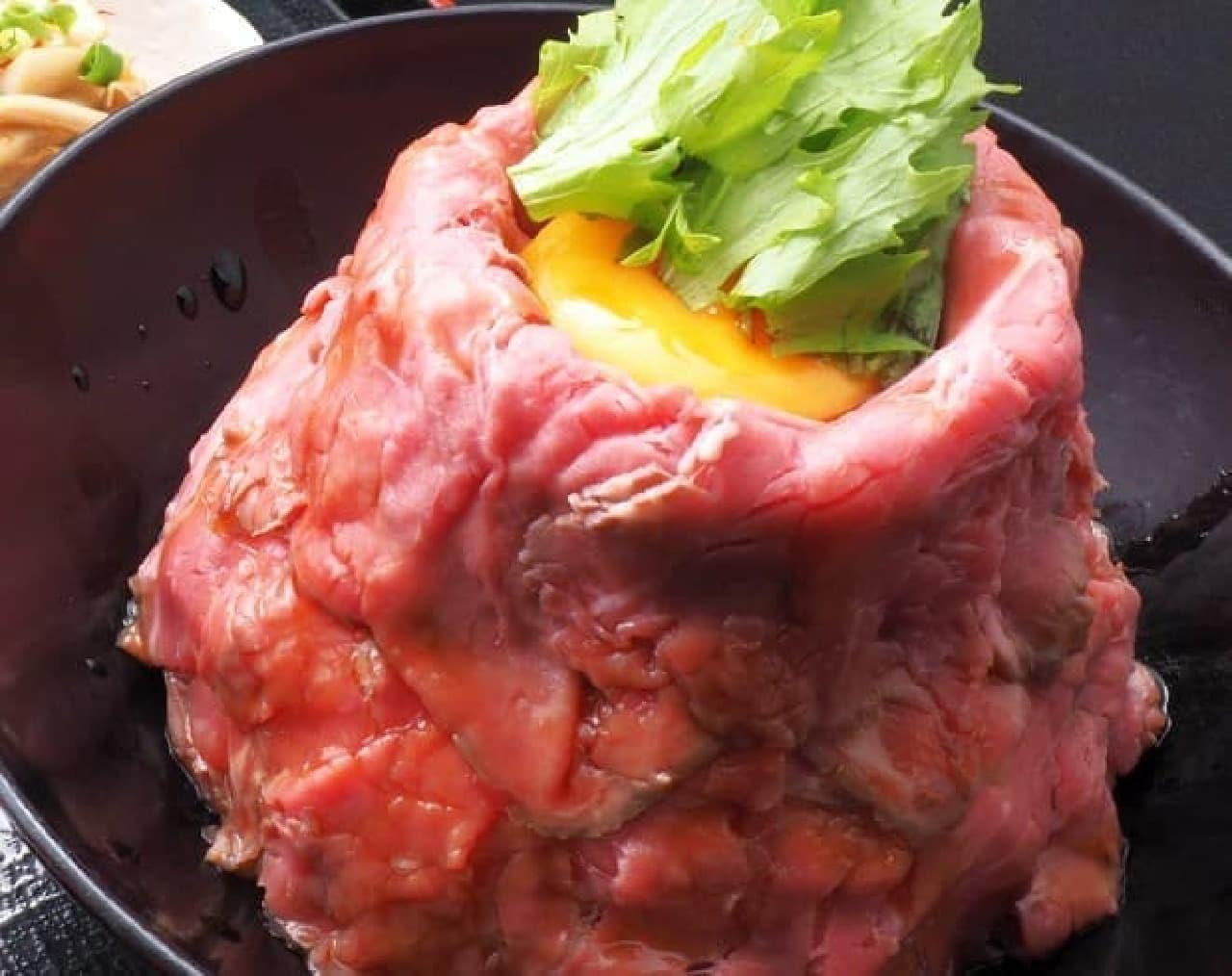 楠の木「ローストビーフ丼」