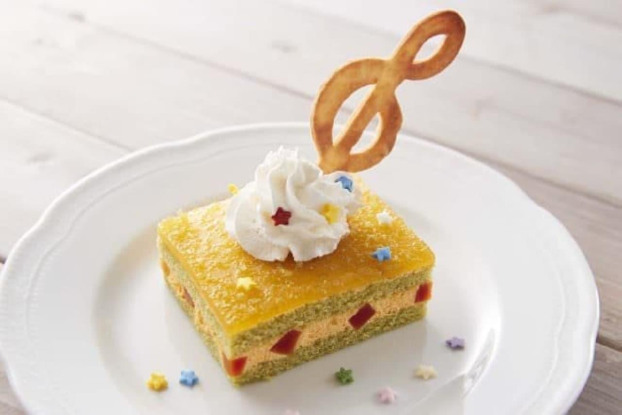 おジャ魔女どれみのヴィレヴァンコラボカフェ「ハナちゃんも納得!ほうれん草とトマトのケーキ」