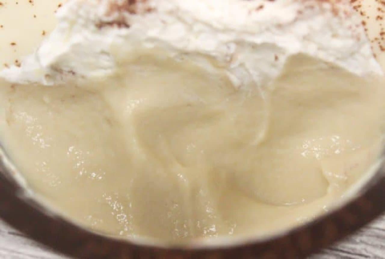 ブロンドチョコレートのとろけるプリン