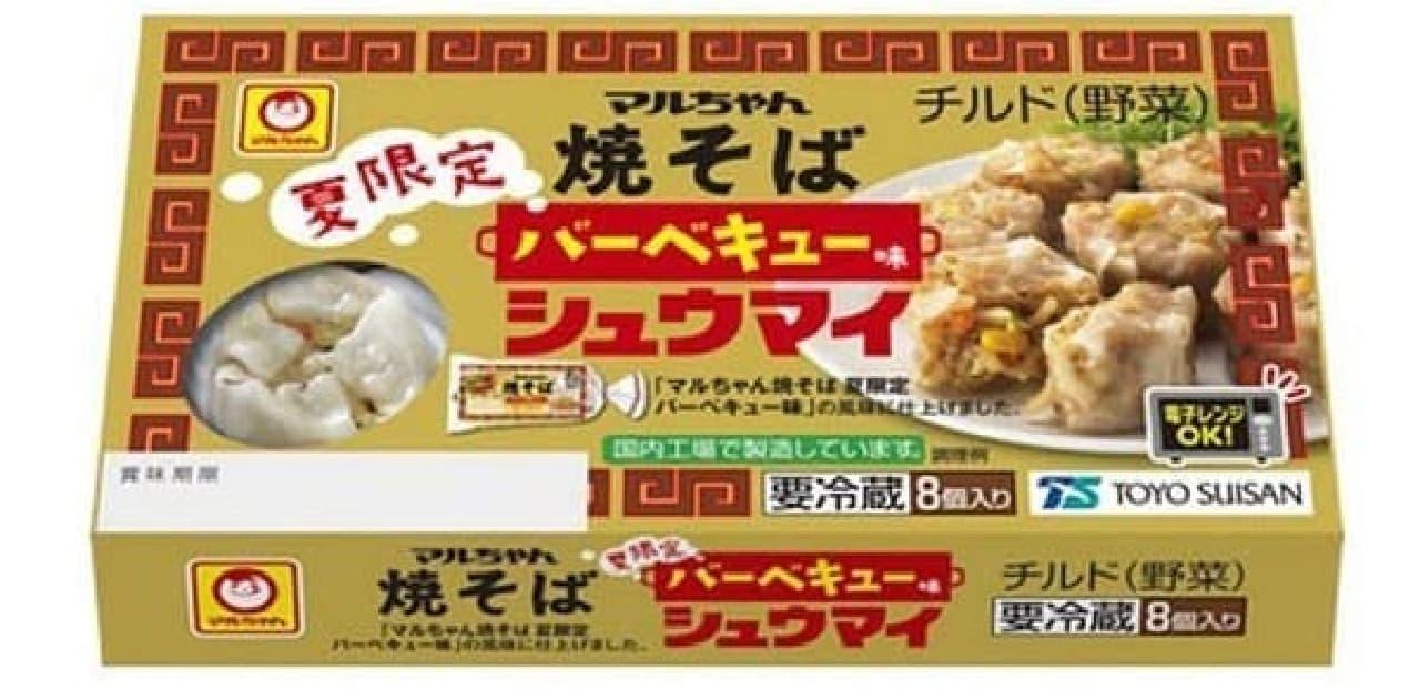 東洋水産「マルちゃん焼そば 夏限定 バーベキュー味 シュウマイ」