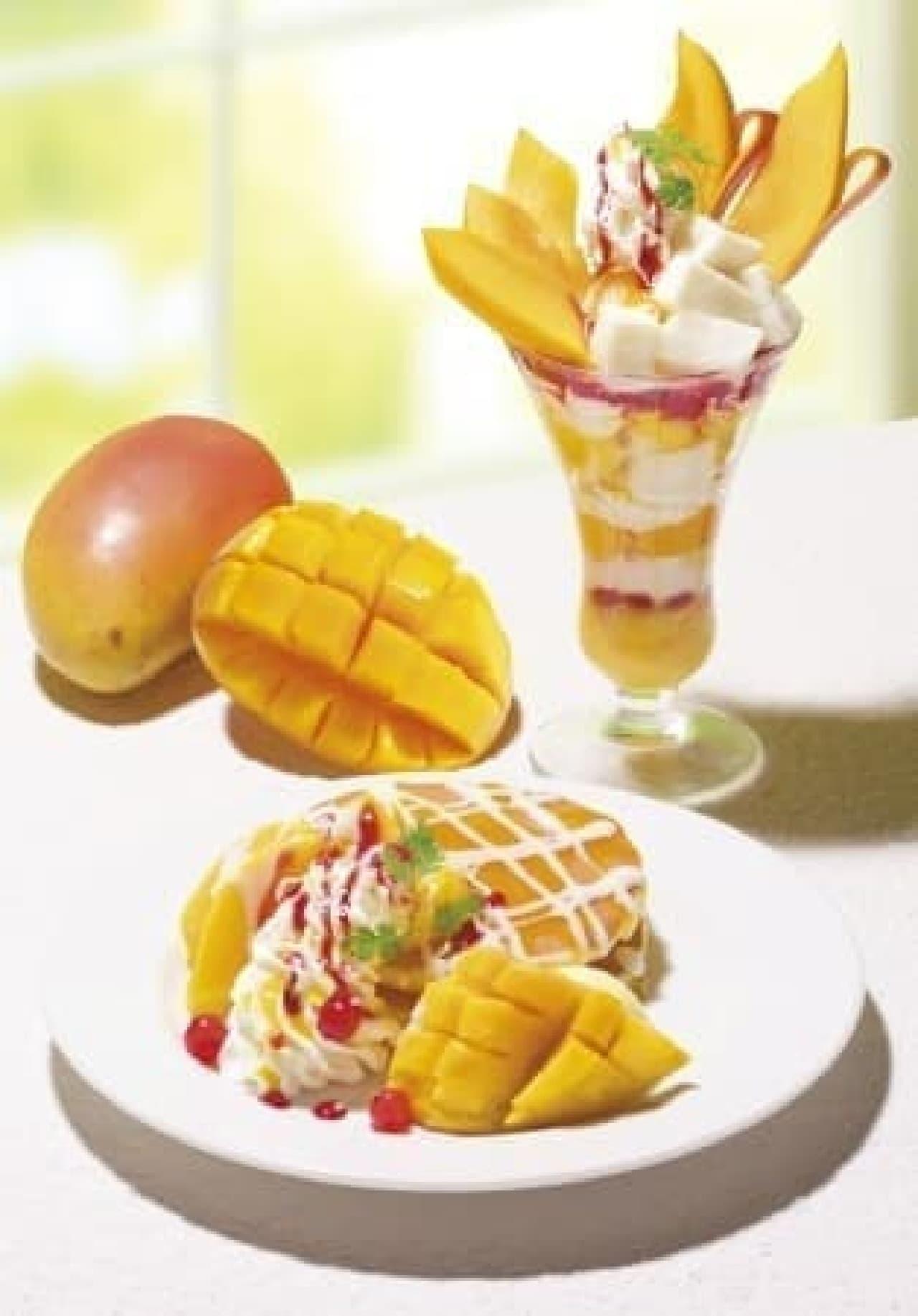 銀座コージーコーナー「常夏のアップルマンゴーのパンケーキ~ココナッツの香り~」