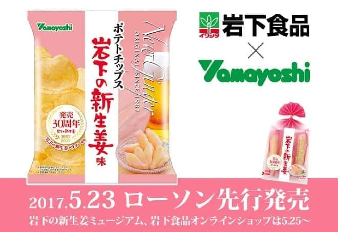 山芳製菓「ポテトチップス 岩下の新生姜味」
