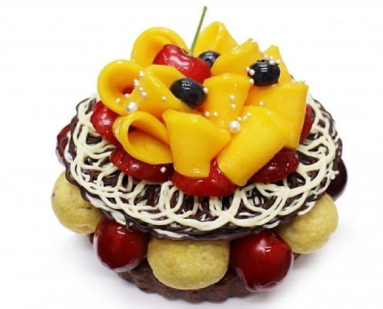 カフェコムサ「To my loving Daddy~マンゴーとアメリカンチェリーのチョコレートケーキ~」