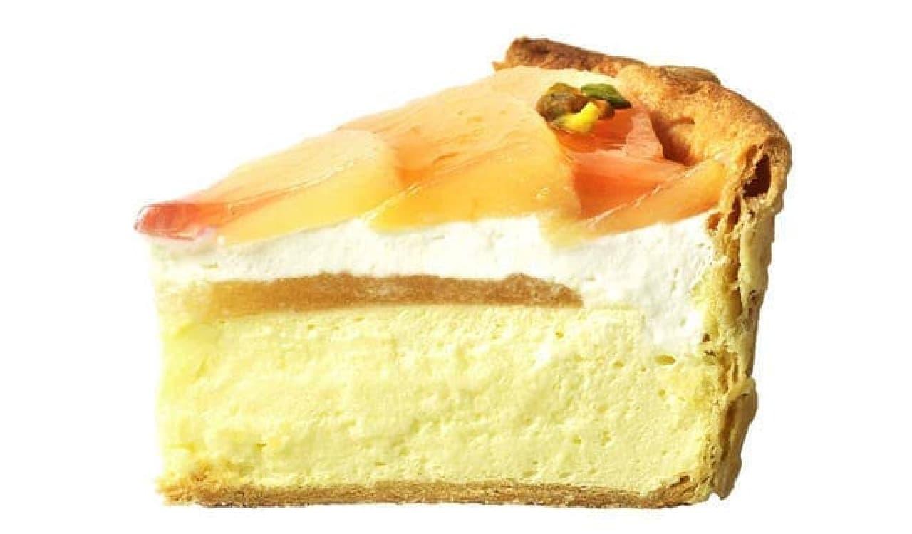 「白桃とヨーグルトクリームのチーズタルト」パブロ