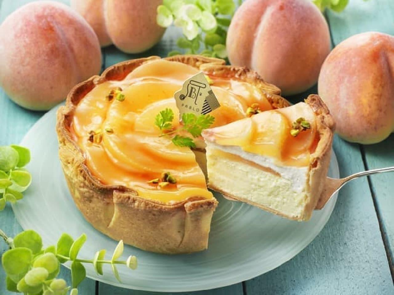 パブロ「白桃とヨーグルトクリームのチーズタルト」