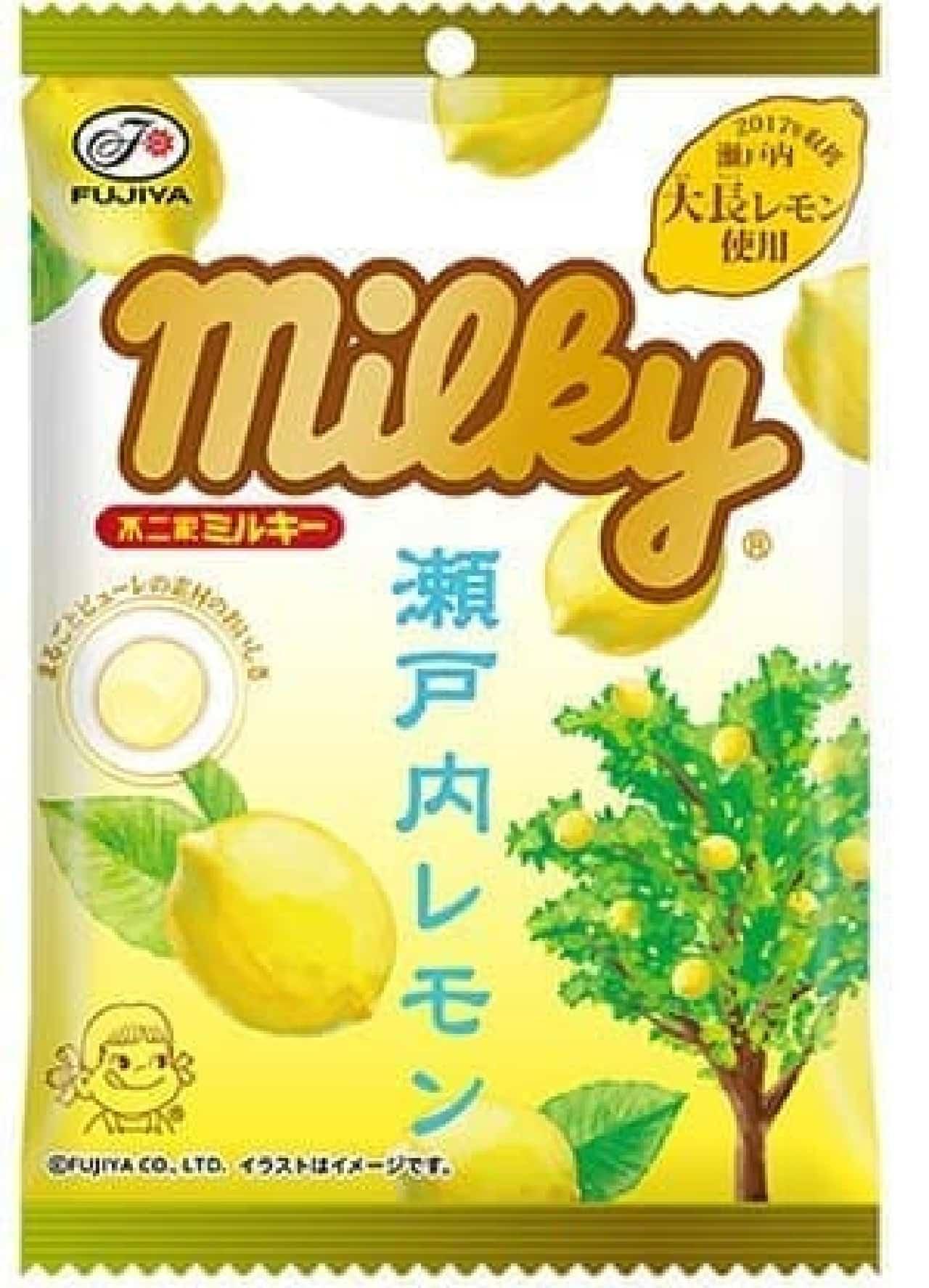 不二家「瀬戸内レモンミルキー袋」