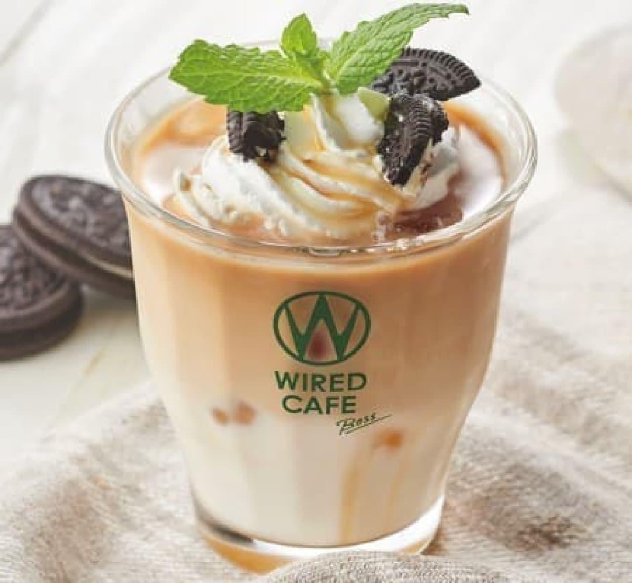 ワイアードカフェ「クッキー&クリームラテ」