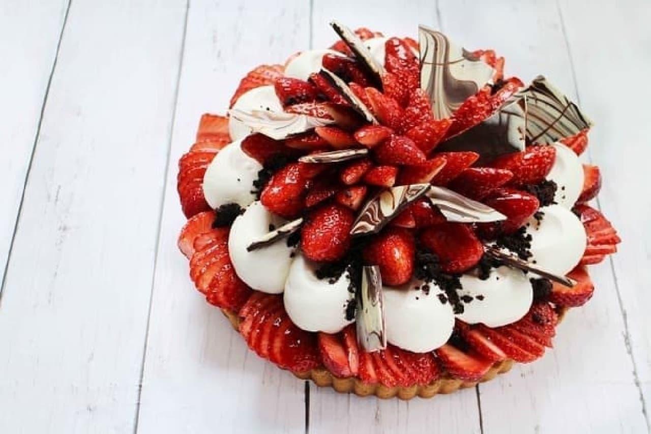 カフェコムサ「ロッシェフレーズ-いちごとチョコクッキーのケーキ-」