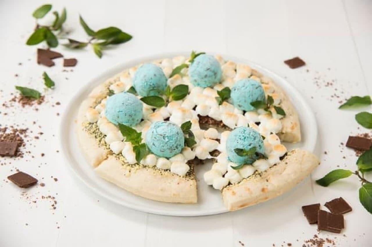 マックスブレナー チョコレートバー「チョコミントアイスピザ」