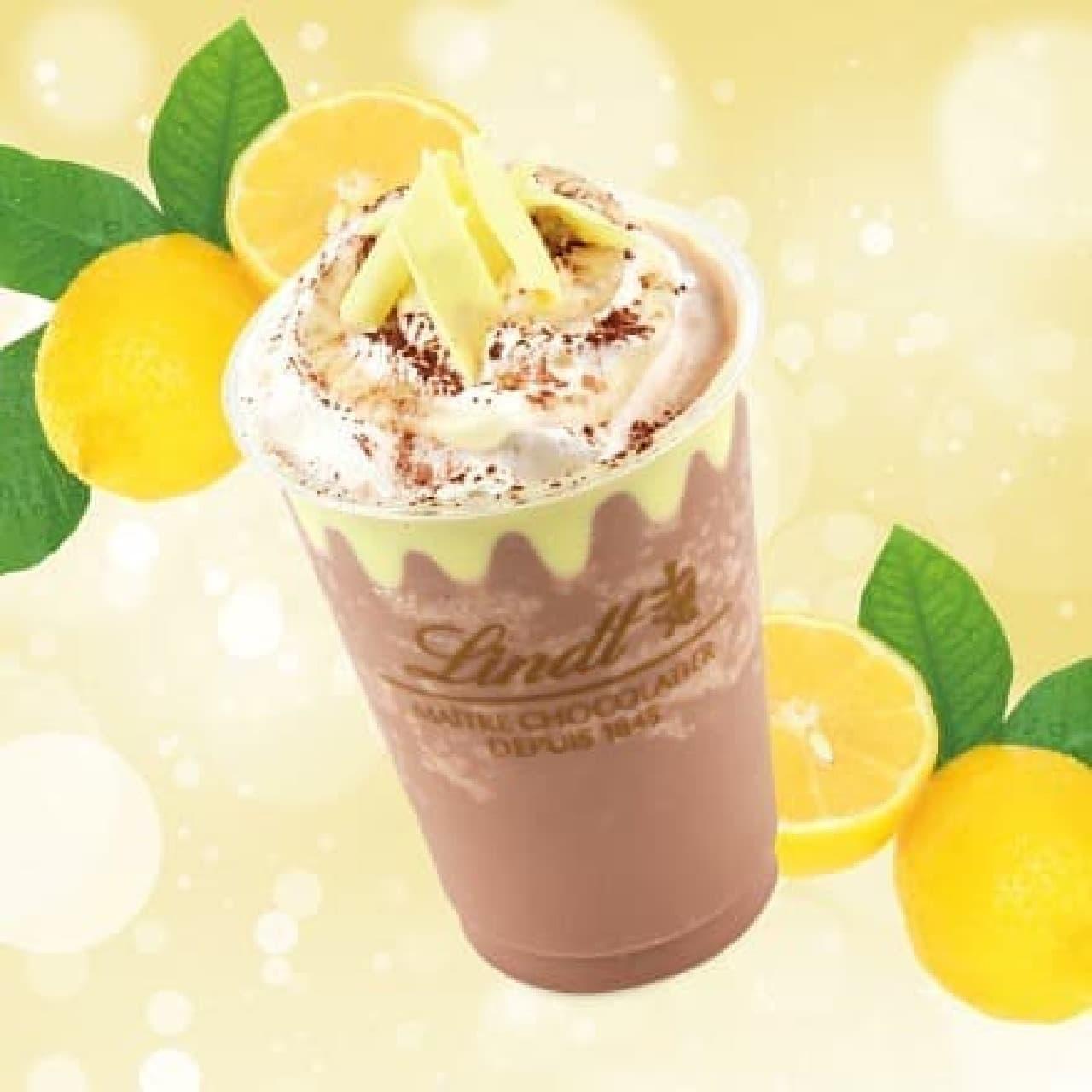 リンツ ショコラ カフェ「リンツ ミルクチョコレート レモン アイスドリンク」