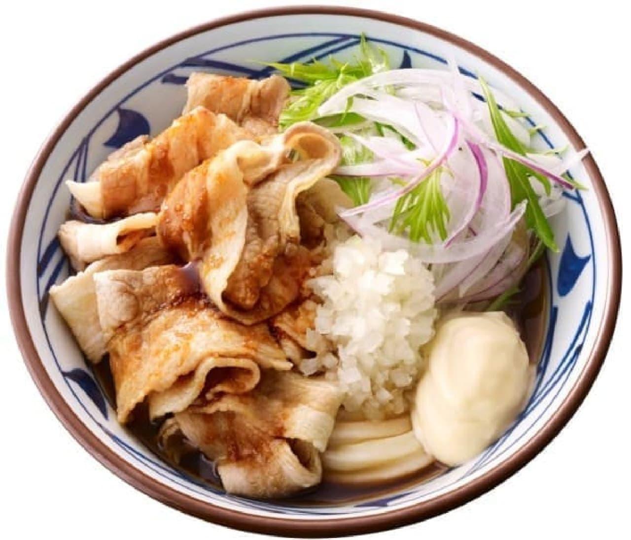 丸亀製麺「こく旨豚しゃぶぶっかけ」