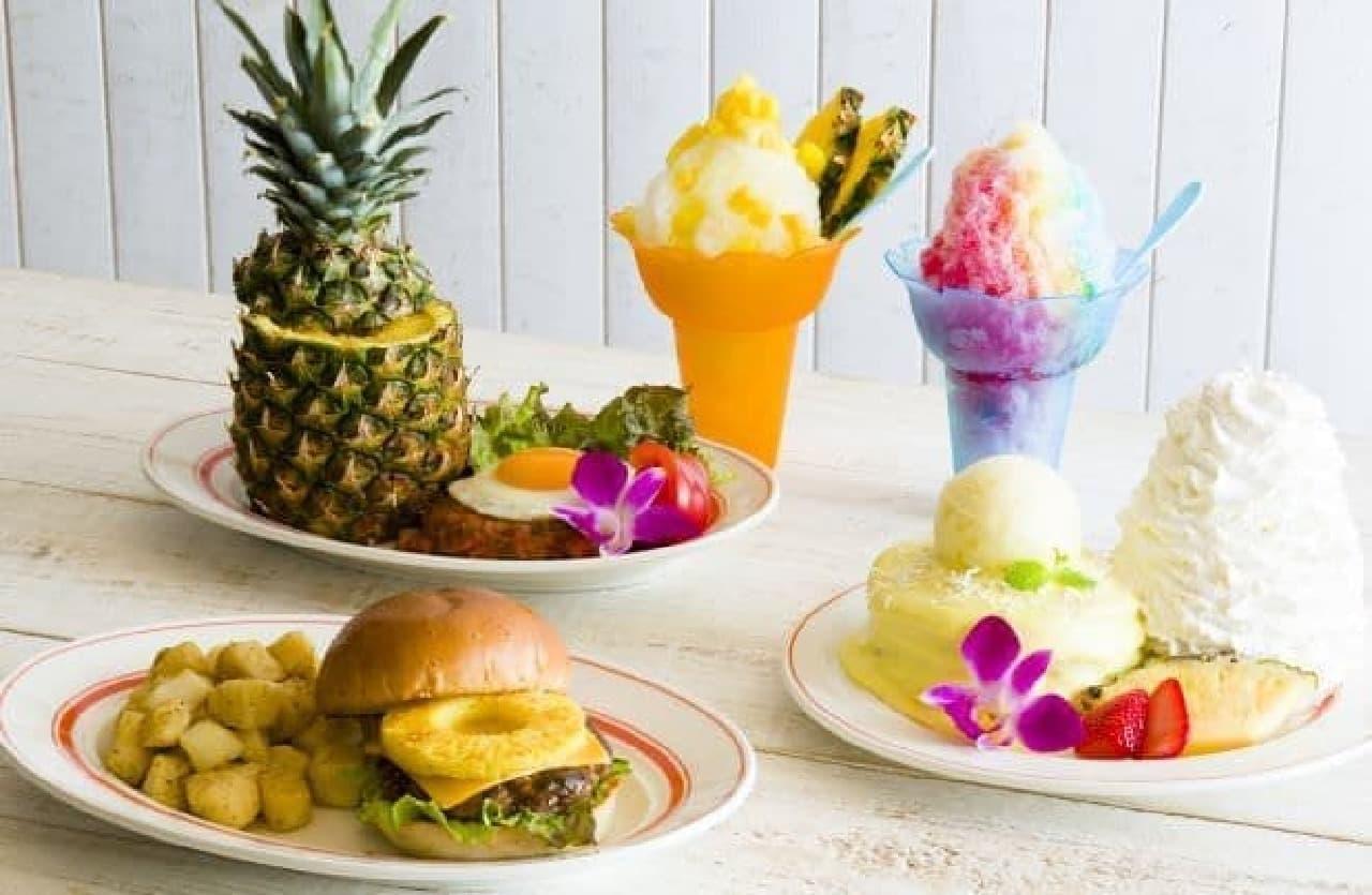 「パイナップル」を贅沢に使用した新メニュー「パインココ・パンケーキ」などがEggs 'n Things各店で発売される