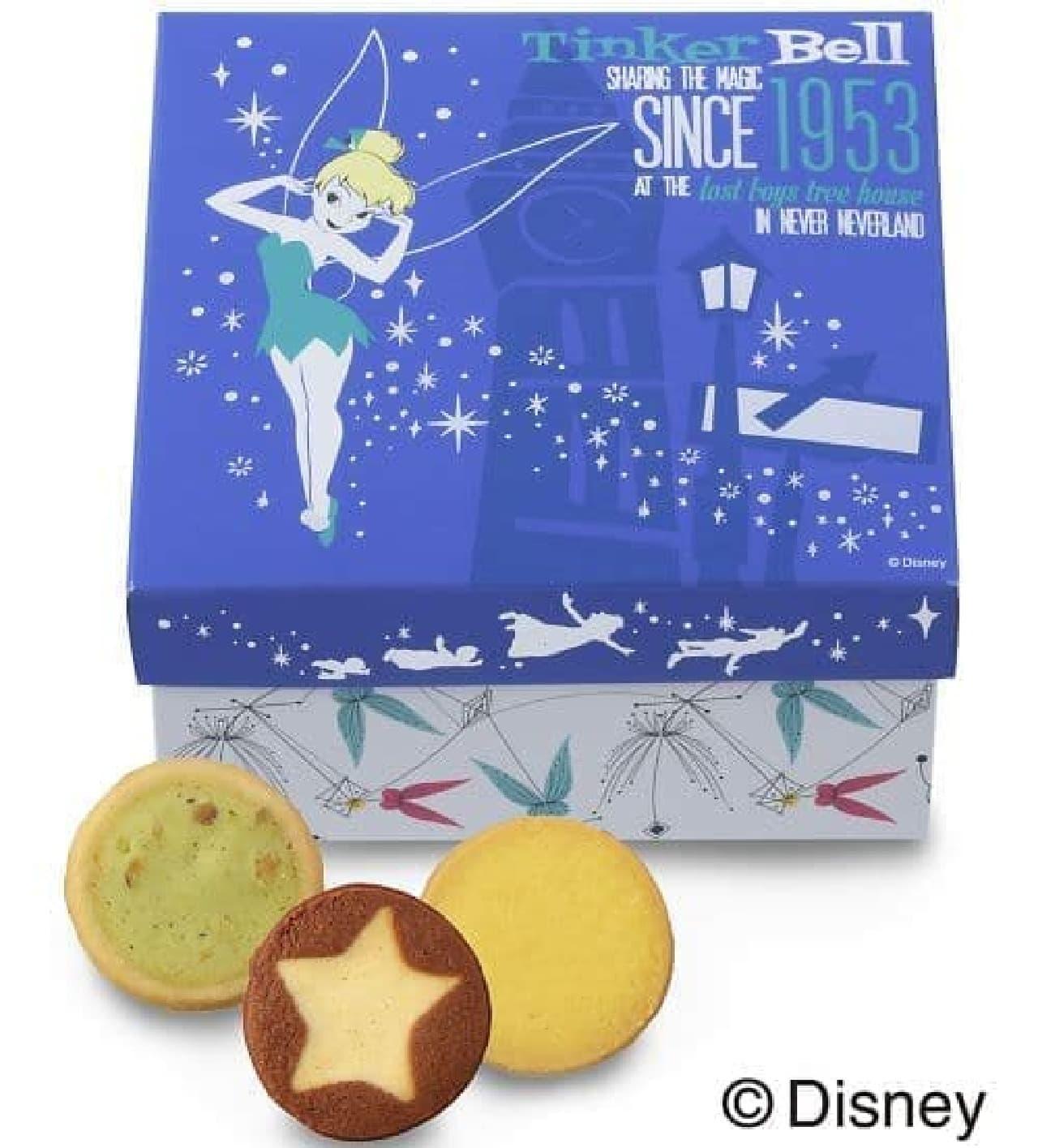 「ギフトボックス(3種15個入)」は、妖精「ティンカー・ベル」をデザインした箱にクッキーが入ったギフトボックス