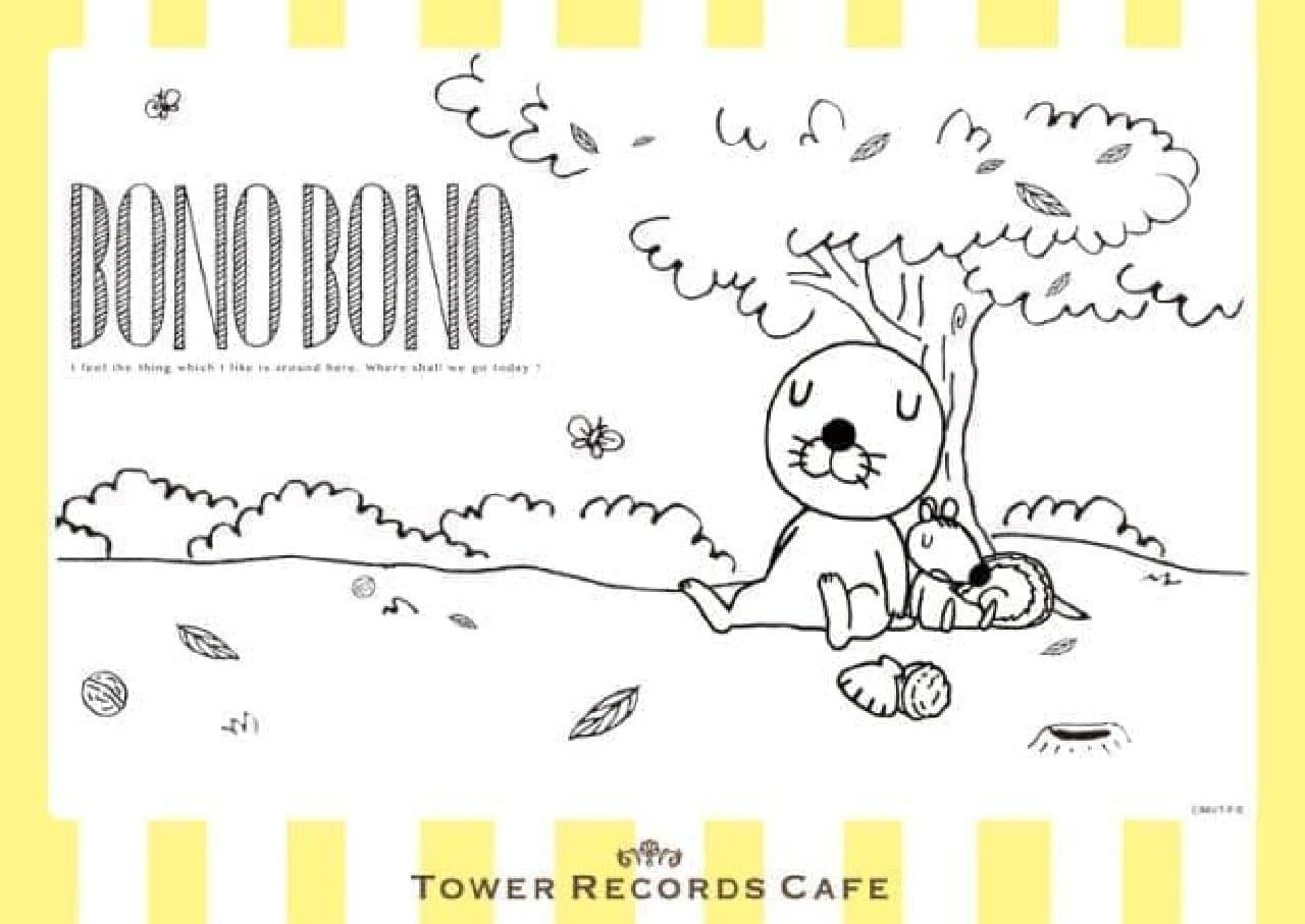 ぼのぼの×TOWER RECORDS CAFE「ぼのぼの森カフェ」はぼのぼのたちが暮らす森をテーマにしたカフェ