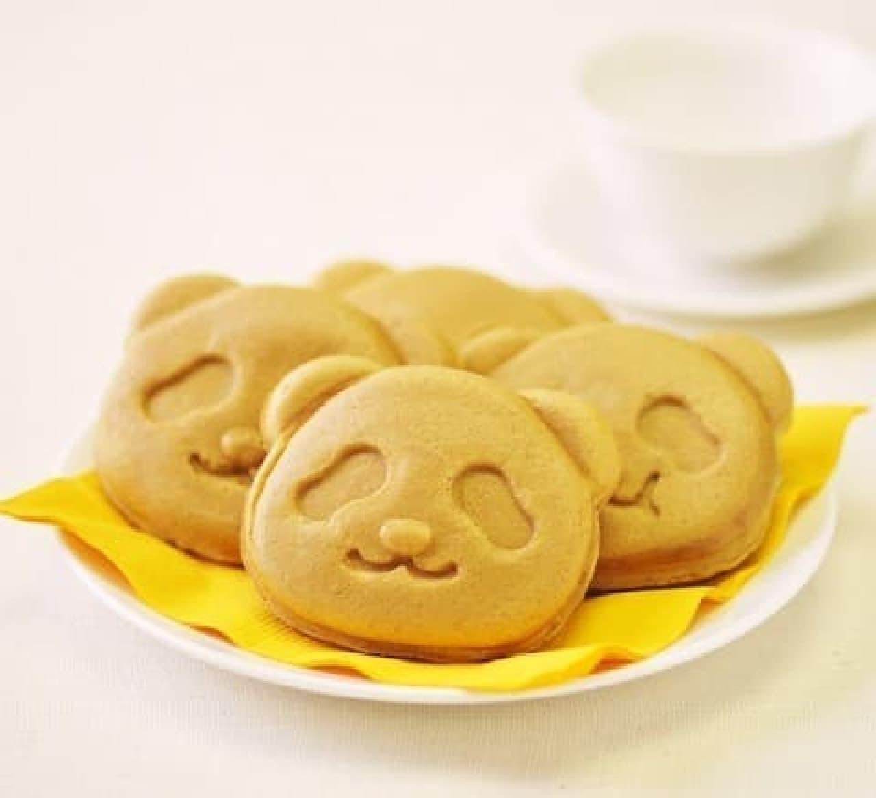 銀座コージーコーナーの上野公園ルエノ店「パンダ焼き(ほろにが抹茶)」
