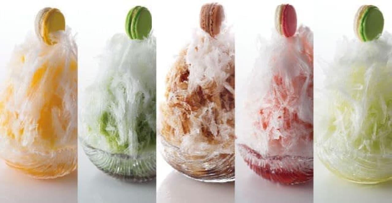 """サツキ江戸かき氷は、日光天然氷を使用した""""ふわっふわ""""のかき"""