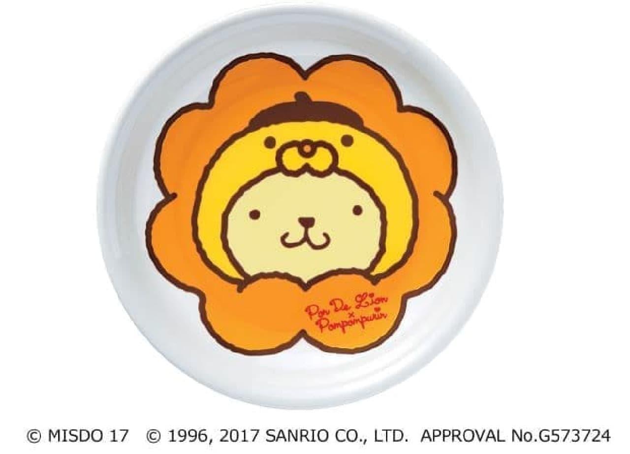 """「カレー皿」は""""ポムポムプリン""""と""""ポン・デ・ライオン""""がコラボしたカレー皿"""