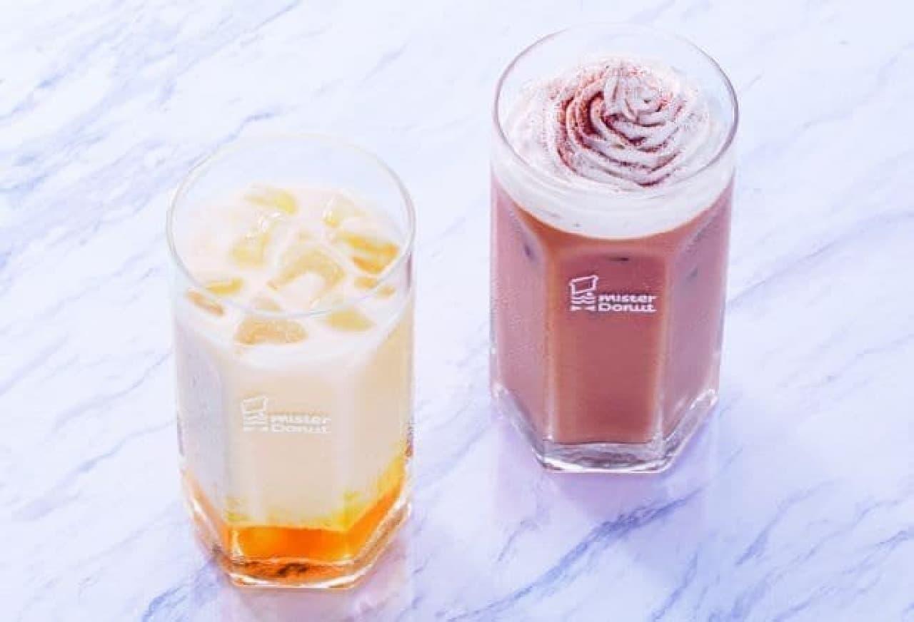 「マンゴーラッシー」と「マサラチャイ 豆乳ホイップ」がミスタードーナツ各店(一部ショップを除く)で販売されている