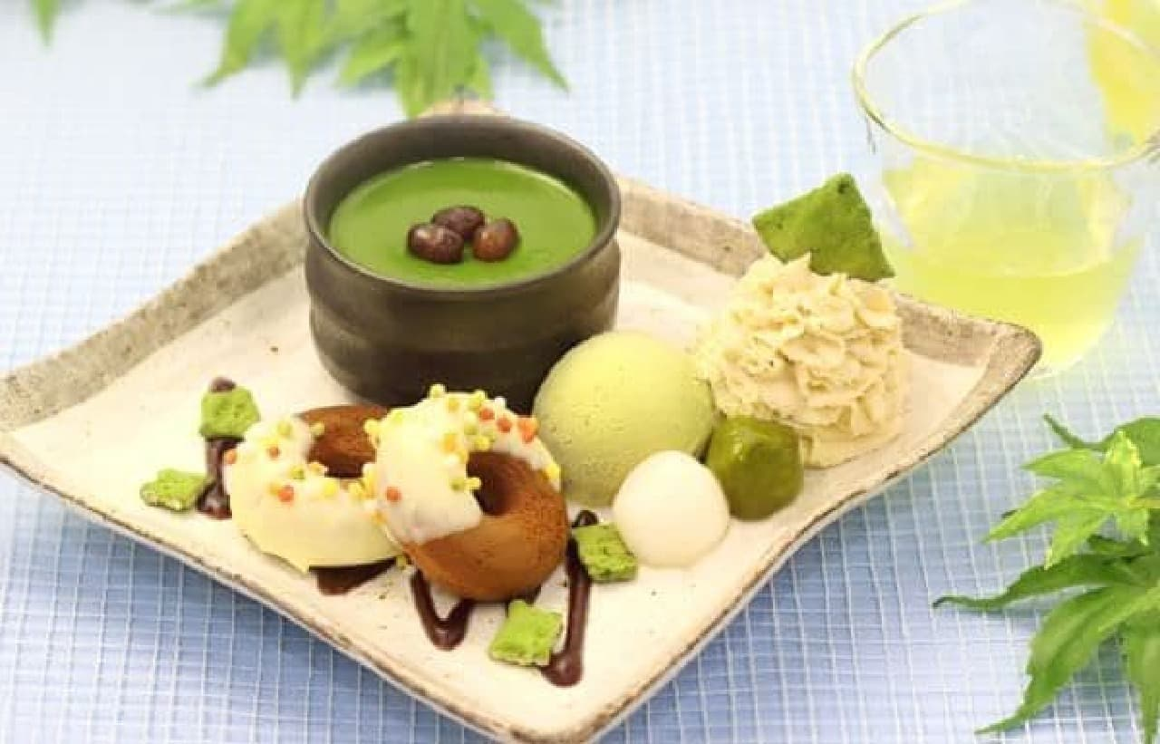 「清涼」は和の食材を盛り込んだプレートと、ひんやり冷たい冷煎茶のセット