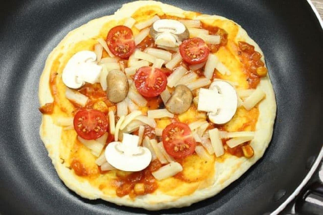 フライパンで作るピザミックス