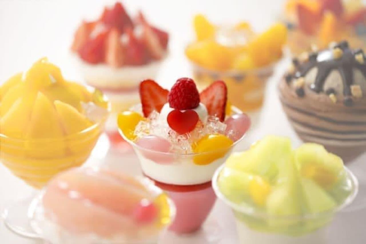 「糖質とカロリーにこだわりました」は糖質とカロリーにこだわったパフェシリーズ