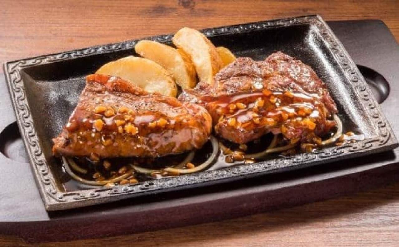 ステーキガスト「厚切りサーロイン&熟成赤身ログ 食べ比べ」