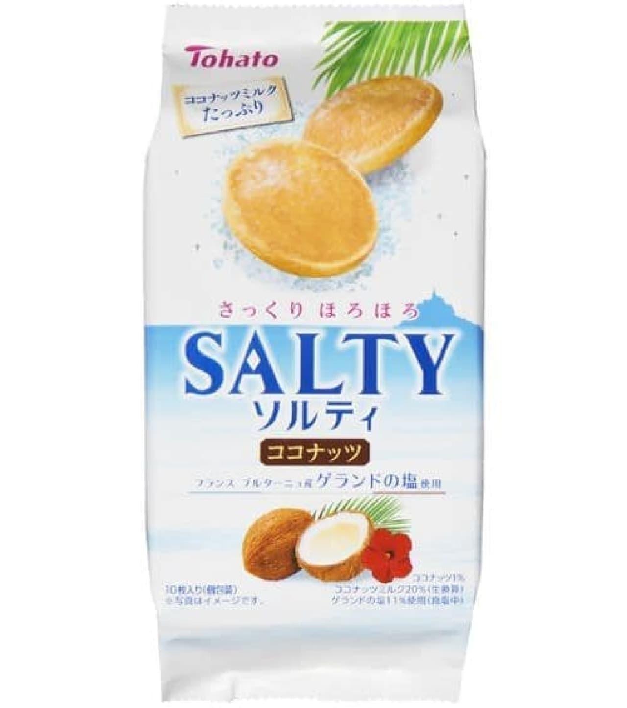 「ソルティ・ココナッツ」はココナッツとたっぷりのココナッツミルクが生地に練りこまれたクッキー