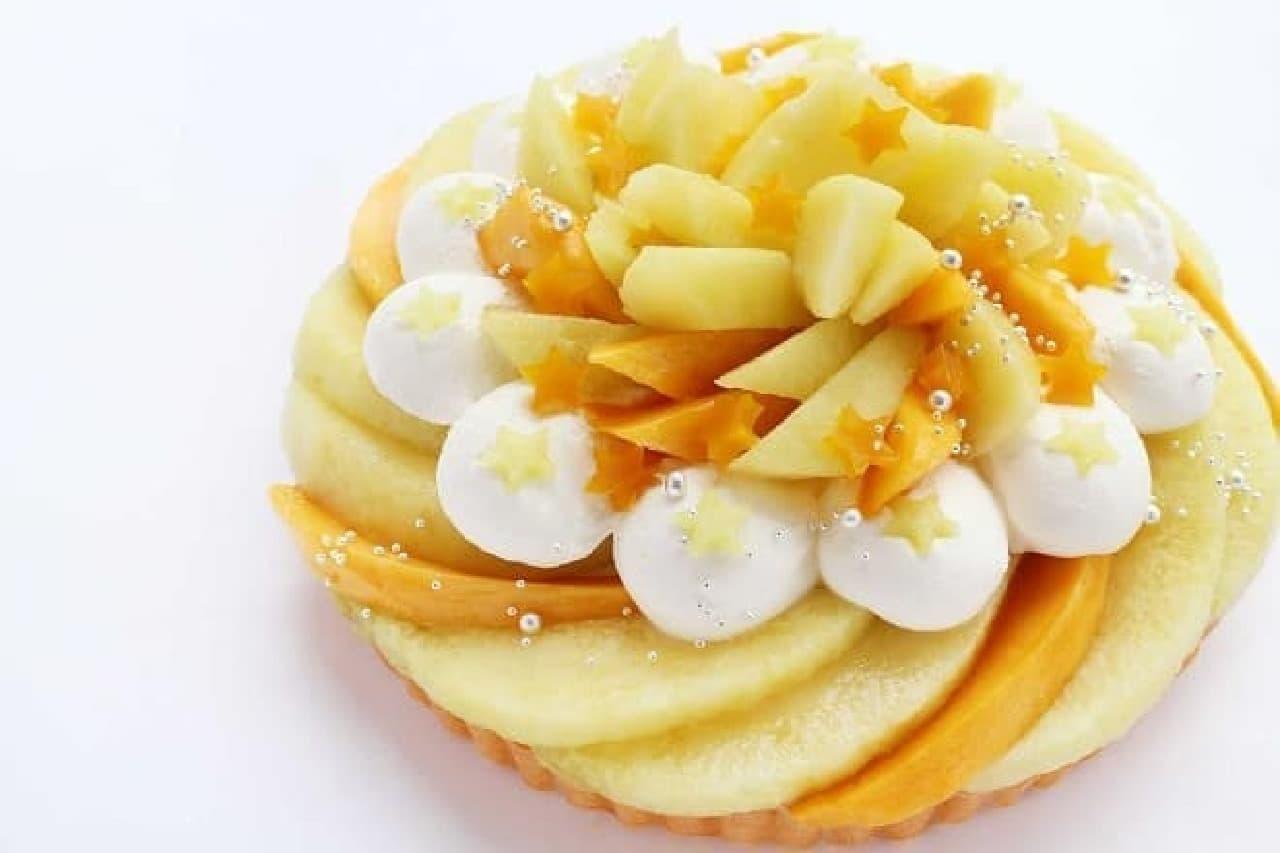 カフェコムサ「彦星〜メロンとマンゴーのケーキ〜」