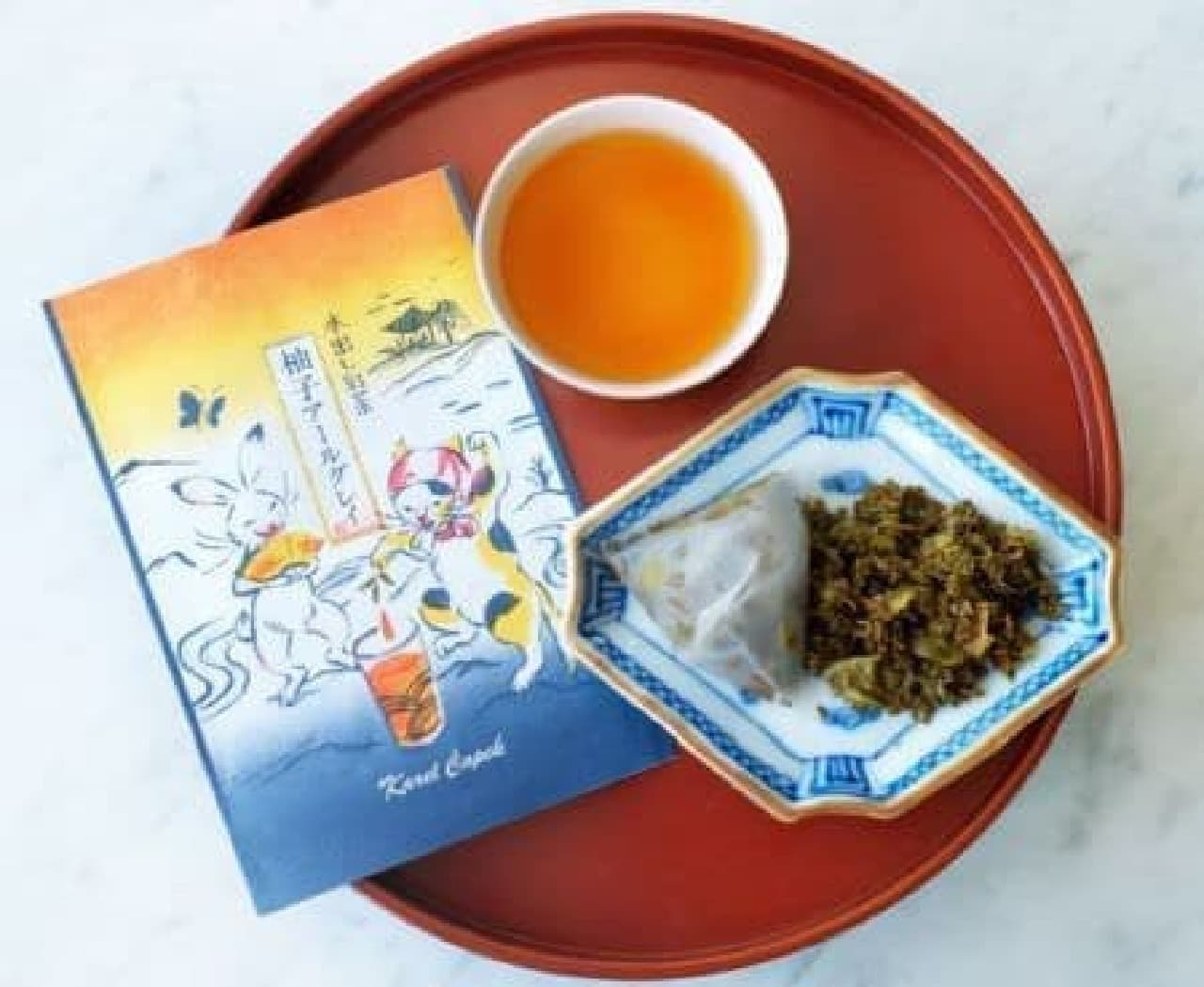 和の水出しは、パッケージに和風イラストが描かれた水出し紅茶