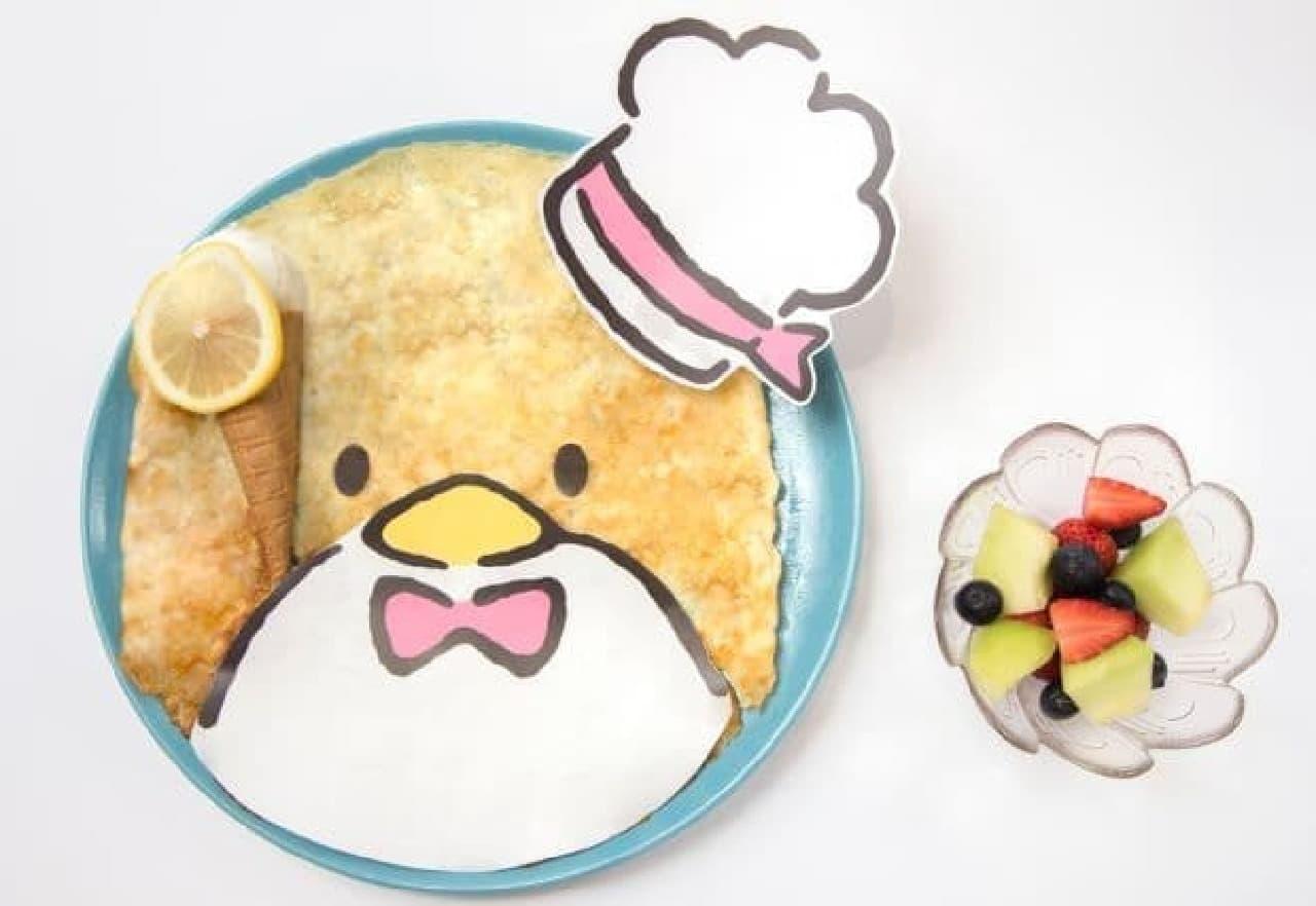 「タキシードサム カフェ」は、人気キャラ「タキシードサム」の料理やドリンクが楽しめるカフェ