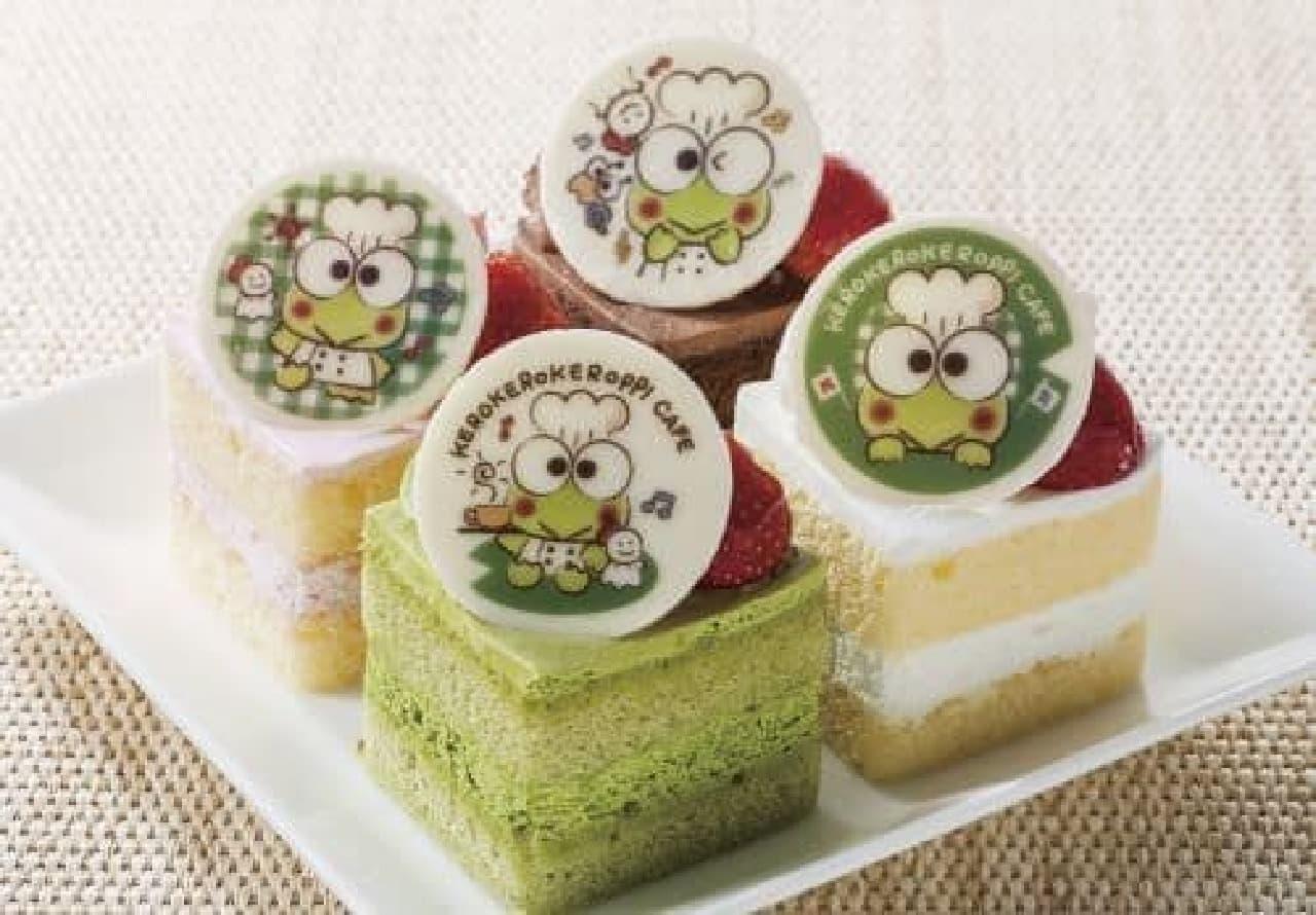 「プチ・フルール限定 けろっぴのバースデーケーキセット」は、けろっぴの誕生日を祝うケーキセット