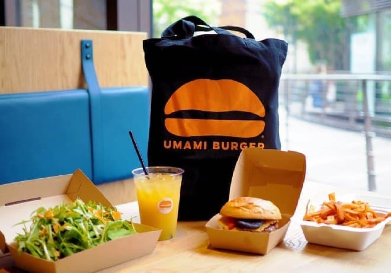 テイクアウト開始記念ノベルティ「UMAMI BURGERオリジナルトートバッグ」