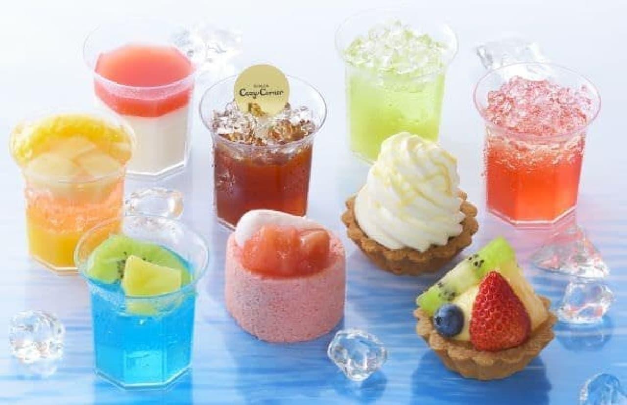 「プチセレクション~涼菓~」は盛夏に人気のカップデザートを中心とした清涼感あふれるアソート