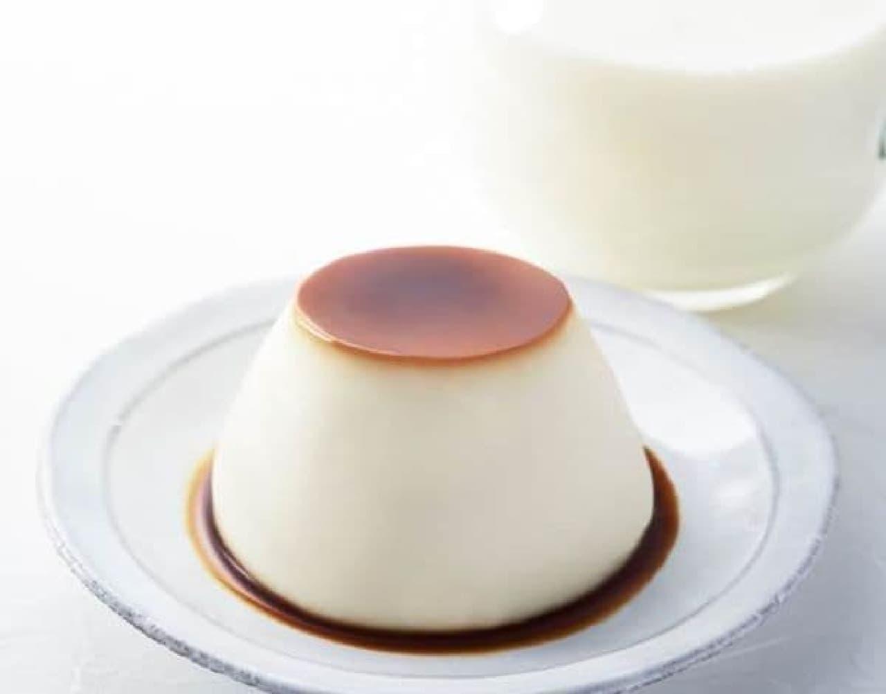 「こだわりミルクのカスタードプリン」はミルクにこだわって作られたカスタードプリン