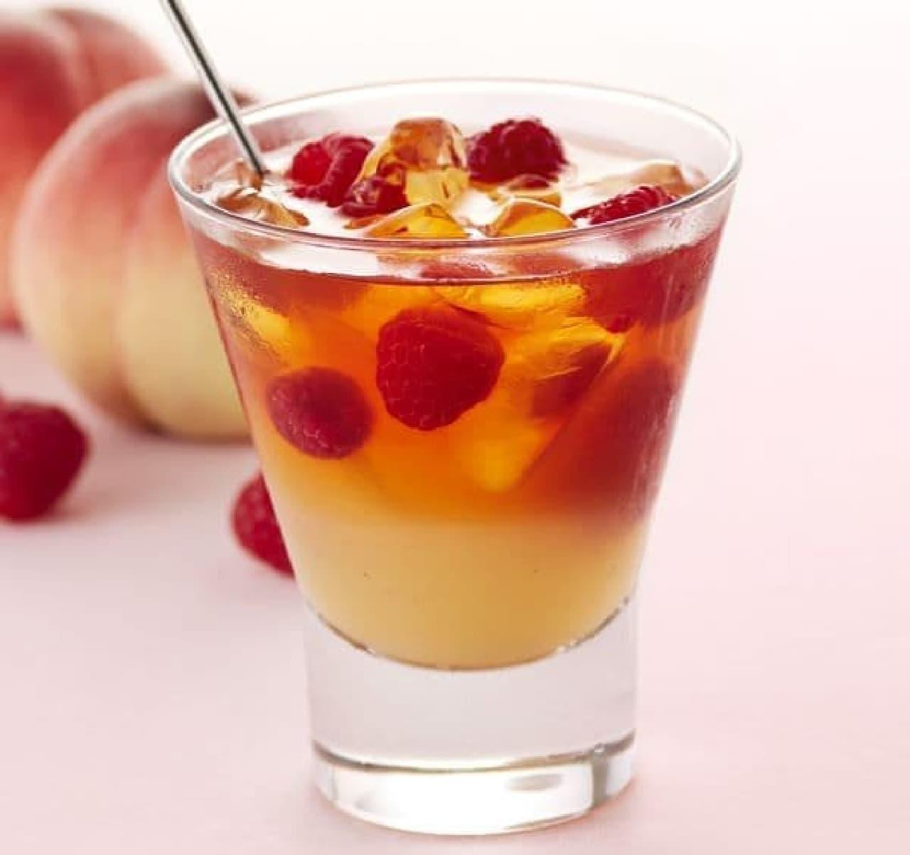 & TEA ピーチティー&フランボワーズは、国産の白桃果汁が使用されたフルーツティー