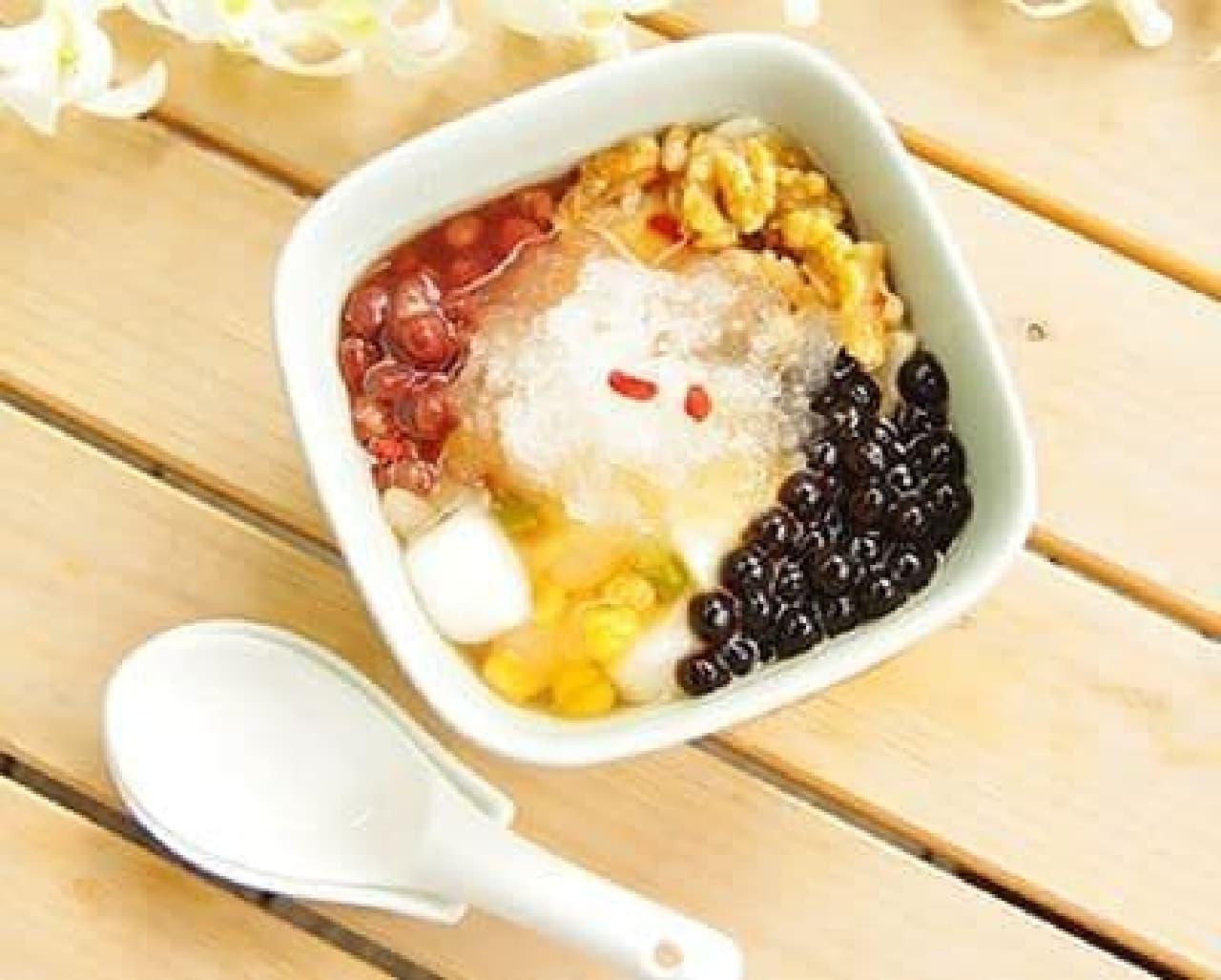 「台湾豆花かき氷」は、豆乳を使用した台湾のヘルシースイーツ