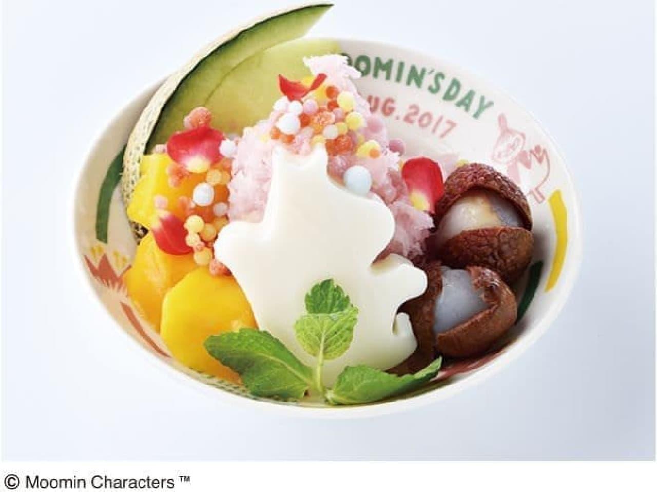 ムーミンベーカリー&カフェ ラクーア店で提供されるMOOMIN'S DAY スーベニアデザートは、かき氷