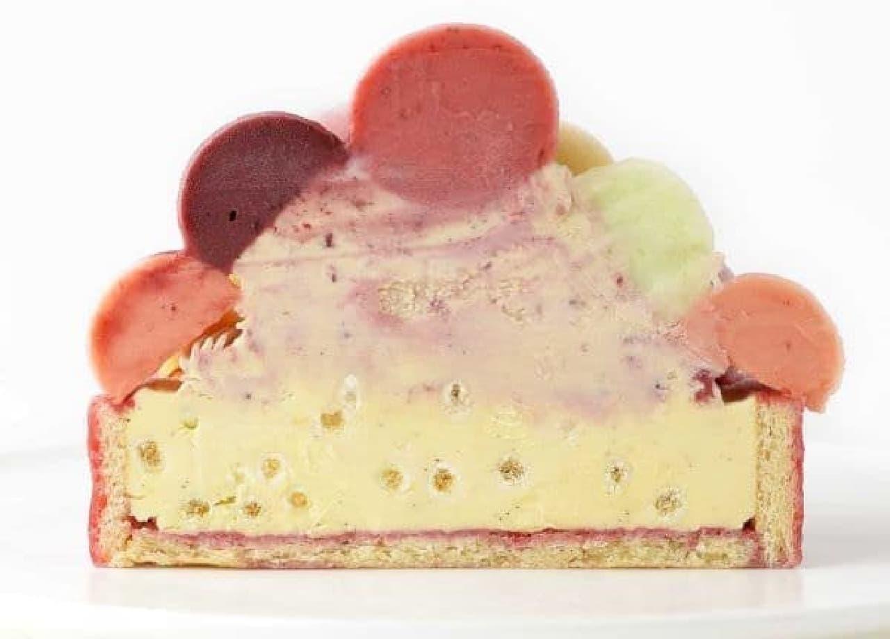 """「バルーンドフリュイ」は""""フルーツバスケット""""をイメージして作られたアイスケーキ"""