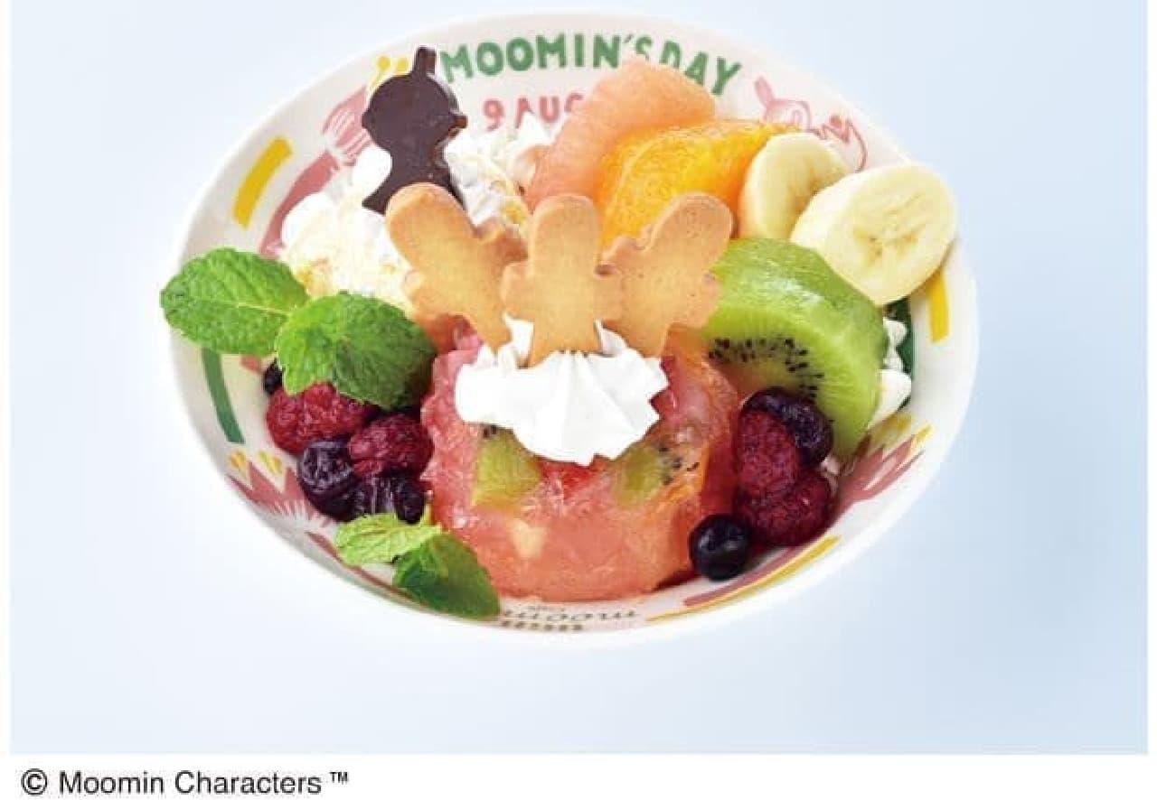 ムーミンハウスカフェ 東京スカイツリータウン・ソラマチ店で提供されるMOOMIN'S DAY スーベニアデザートは、ゼリースイーツ