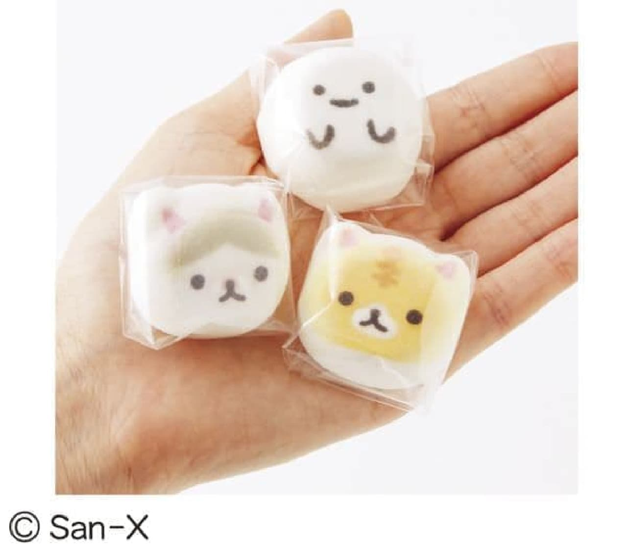 「コロニャのミニ和風ニャシュマロ〈猫ほうずい〉の会」は、卵白を寒天で固めた和菓子