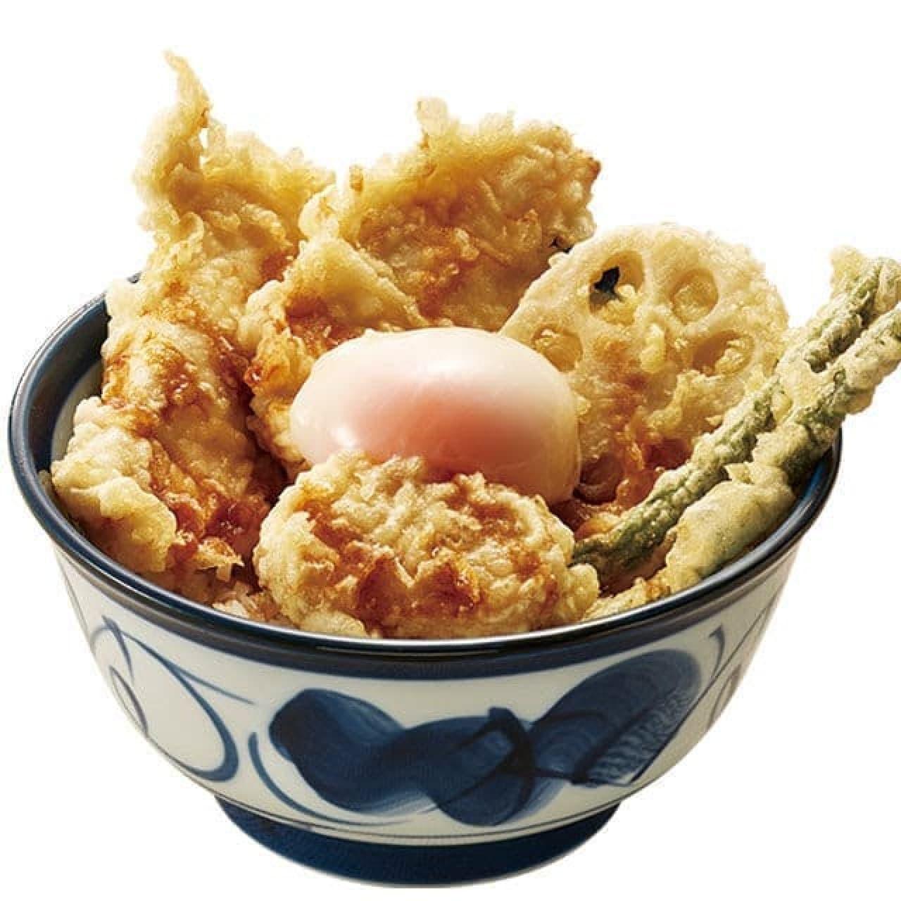 柚子こしょう鶏天丼