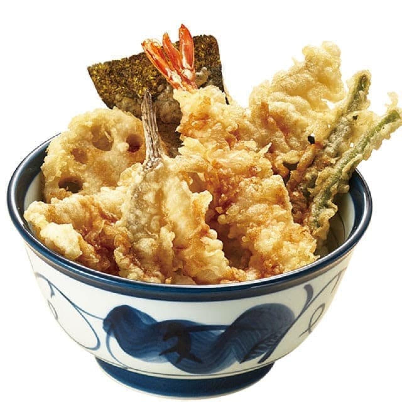 穴子・めごち・海老の夏天丼