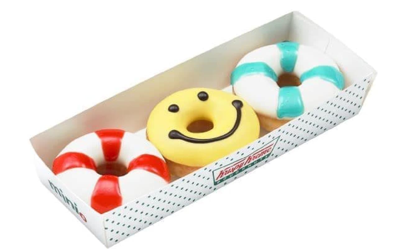 「サマー ミニミニボックス」はミニドーナツ3個入りのセット