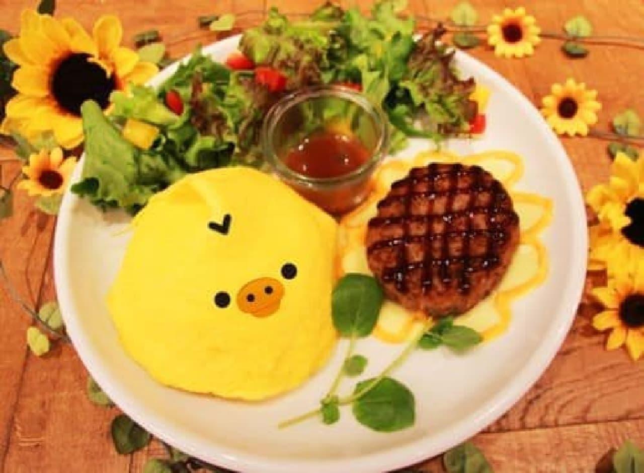 「キイロイトリダイアリーカフェ」は『リラックマ』の「キイロイトリ」が主役のコラボレーションカフェ