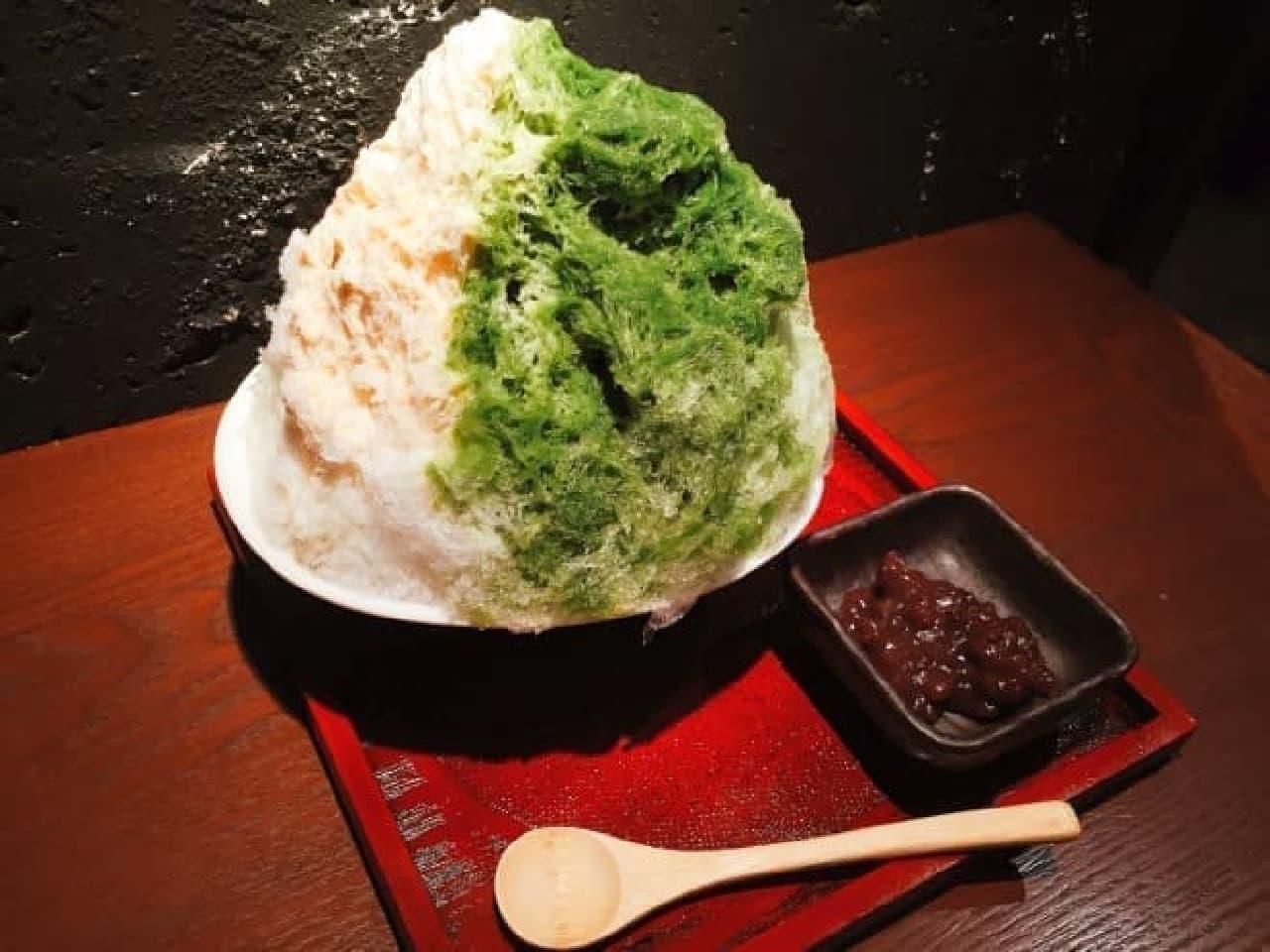 生姜屋 黒兵衛のかき氷「京都宇治抹茶ミルク」