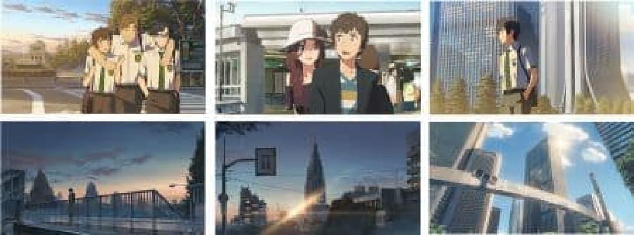 「君の名は。カフェバス」は映画『君の名は。』で描かれた東京の舞台をめぐりながらカフェメニューが楽しめるオリジナルラッピングバス
